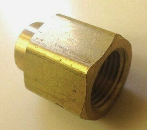Brass pipe female coupling reducer quot npt solid