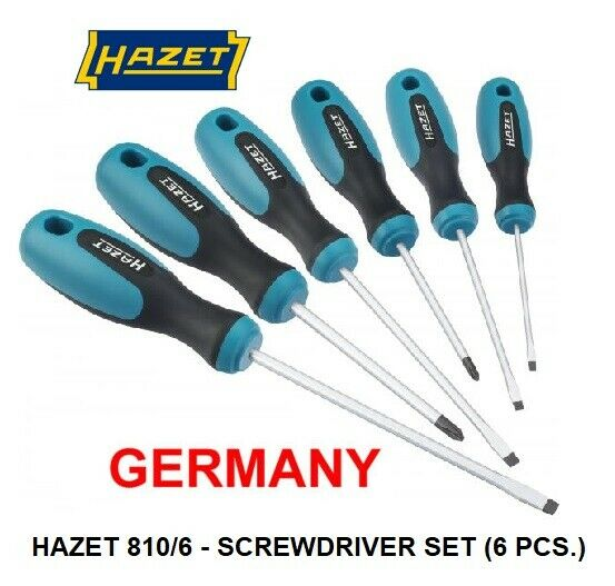 hazet germany screw driver set with 6 pieces ebay. Black Bedroom Furniture Sets. Home Design Ideas