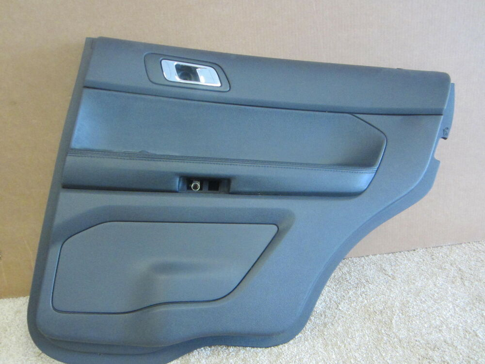 ford explorer oem right rear inside black door pad panel. Black Bedroom Furniture Sets. Home Design Ideas