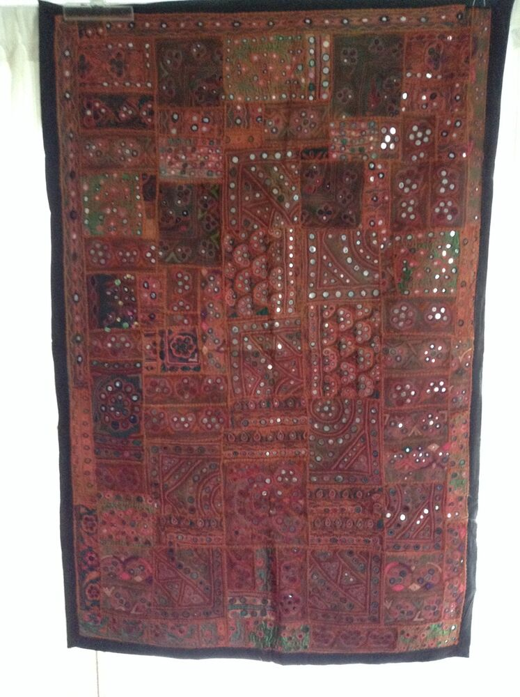 Antique Indian Patchwork Tapestry 3x5 Wall Hanging Hand