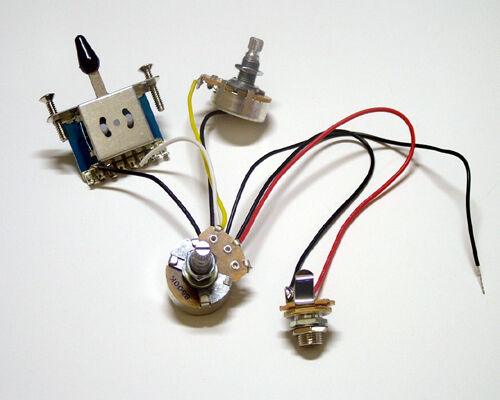 Dragonfire Two Pickup Wiring Harness 3 Way Blade Switch