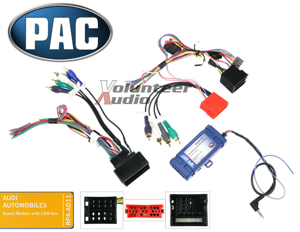 pac rp4 ad11 select audi radio install wiring harness interface premium sound ebay