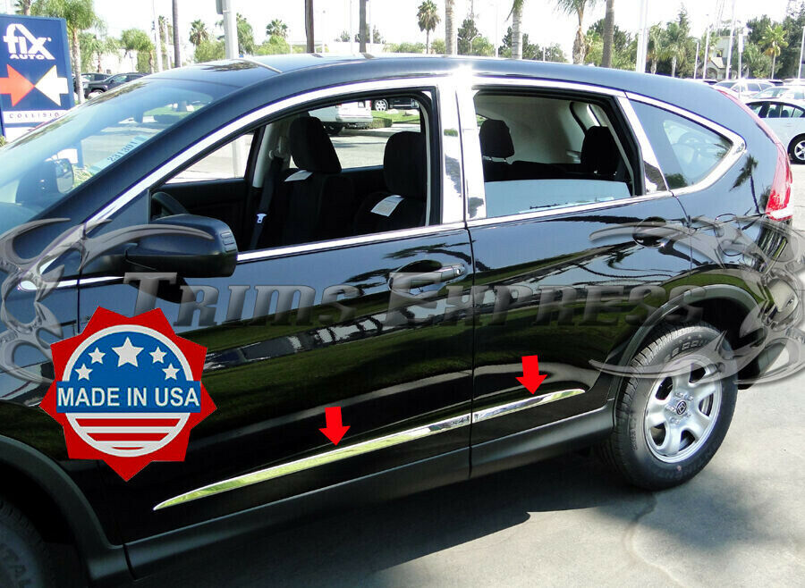 2012 2016 honda crv cr v body side molding 4pc chrome stainless steel trim ebay for 2014 honda cr v exterior accessories