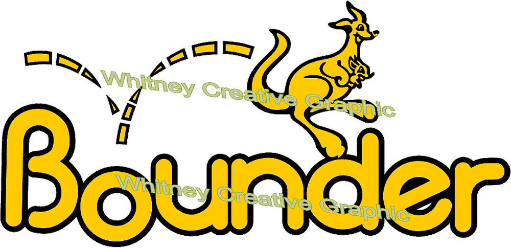 Bounder Rv Logo Graphic Lettering Decal 5th Wheel Yellow