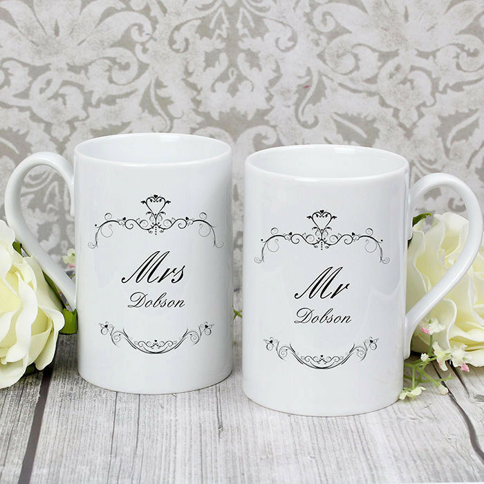 ... Mr and Mrs Mug Gift Set Wedding Gift Anniversary Present Couple eBay