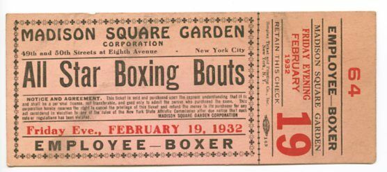 madison square garden all star boxing new york ny boxing full ticket