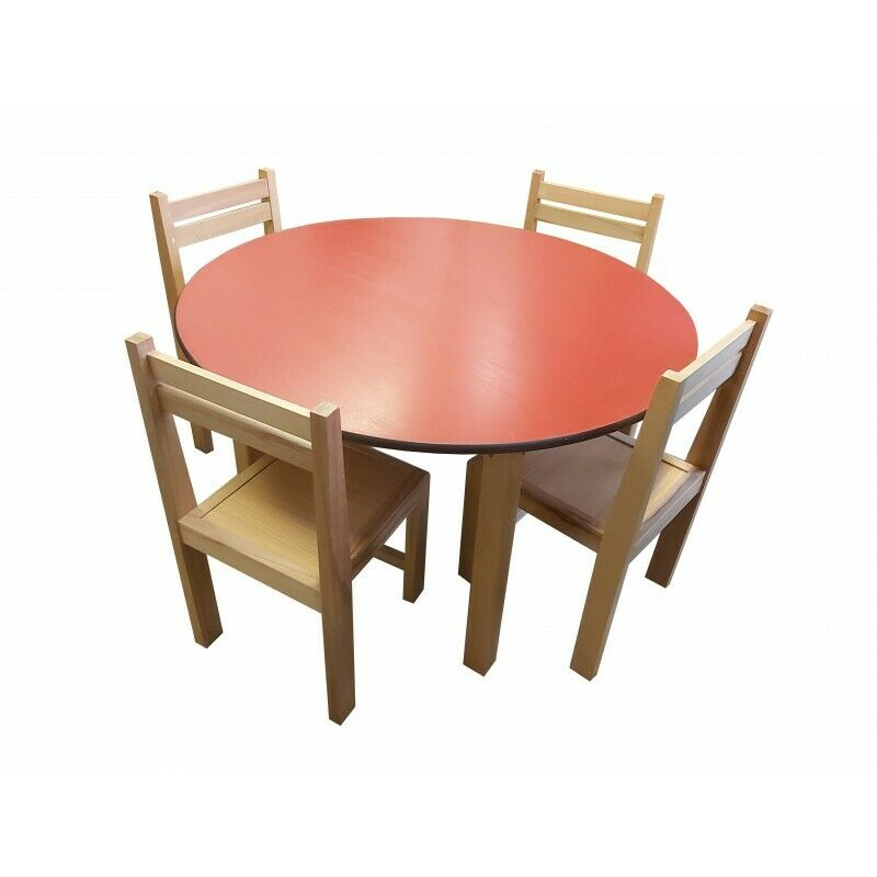 kids beech wood round table stacking chairs classroom pre school furniture chair ebay. Black Bedroom Furniture Sets. Home Design Ideas