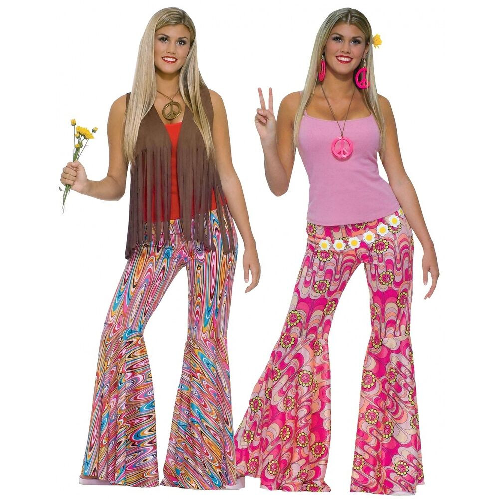 70s Costumes Adult Womens Bell Bottom Pants Halloween Fancy Dress ...