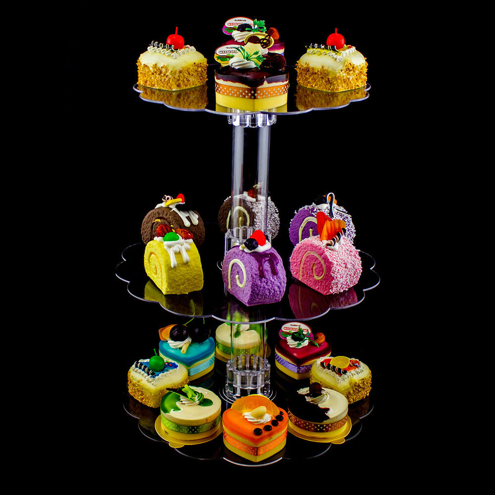 wedding cup cake stand 3 tier clear acrylic cupcake cake centerpiece stand 8964