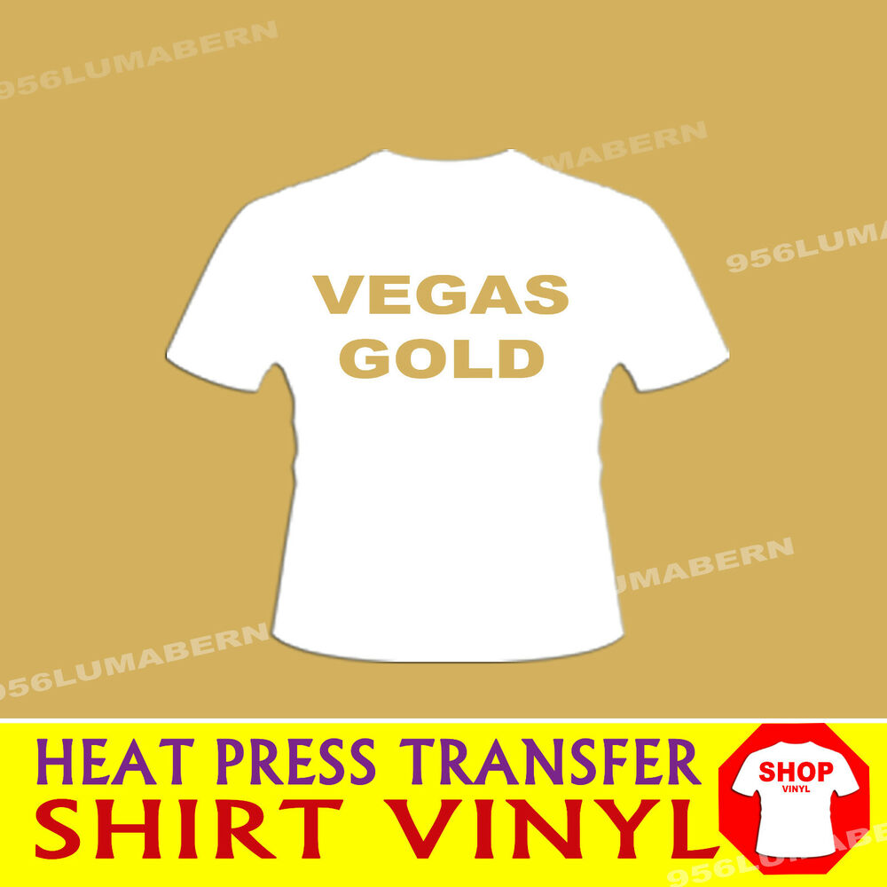 1 roll 15 vegas gold heat press thermal transfer vinyl for Heat pressing t shirts