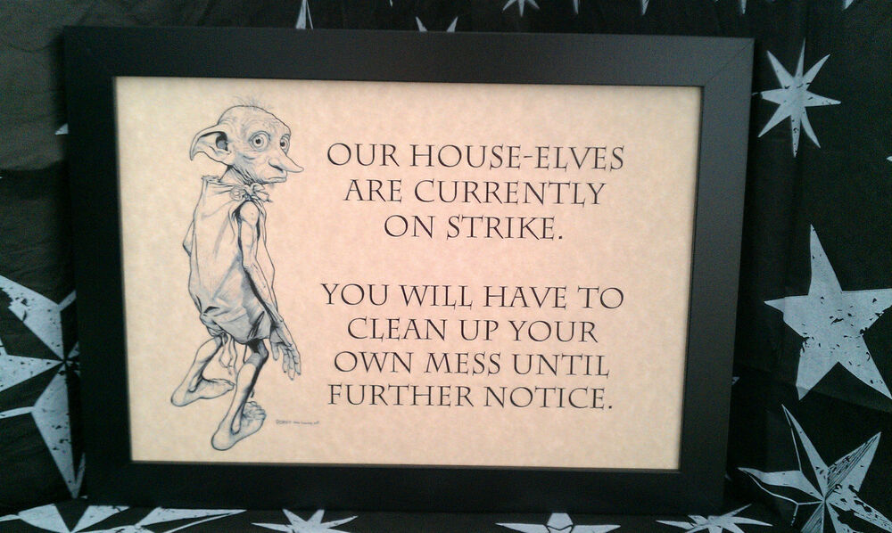 Harry Potter Dobby A4 Framed Pictures Must Have For All