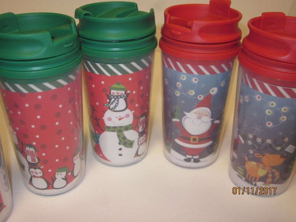 Design Your Own Holiday Travel Mug Double Walled Cup