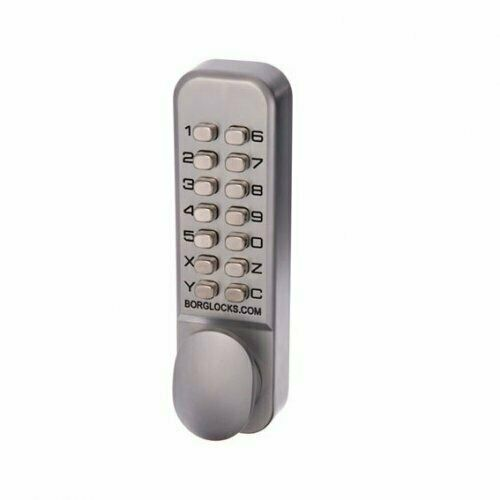 borg digital door lock bl2000kscnew knob keypad only keyless entry satin chrome ebay. Black Bedroom Furniture Sets. Home Design Ideas