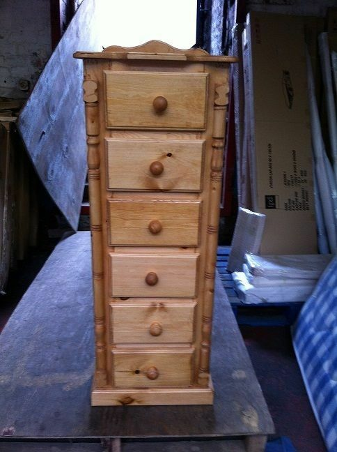 New hand made wales pine drawer narrow tall chest no
