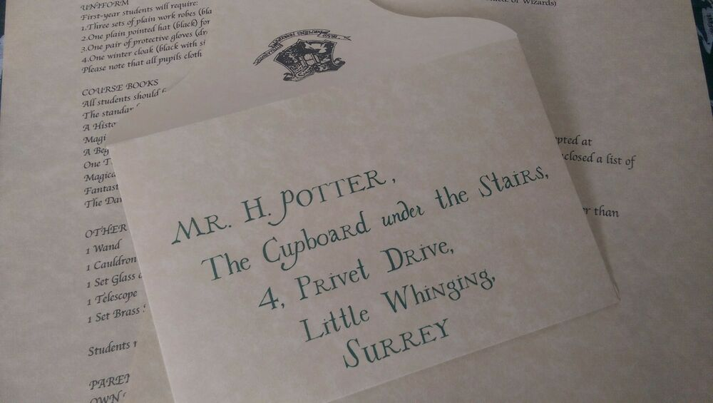 harry potter acceptance letter harry potter personalised acceptance letter official 22092 | s l1000