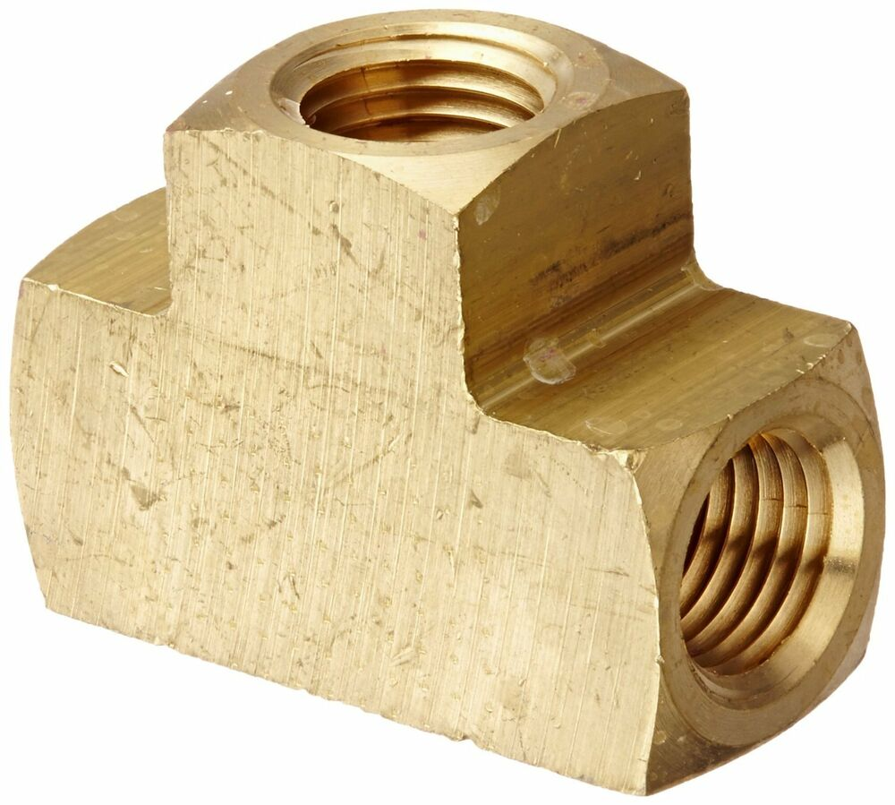 Brass pipe tee female t fitting quot npt thread air fuel