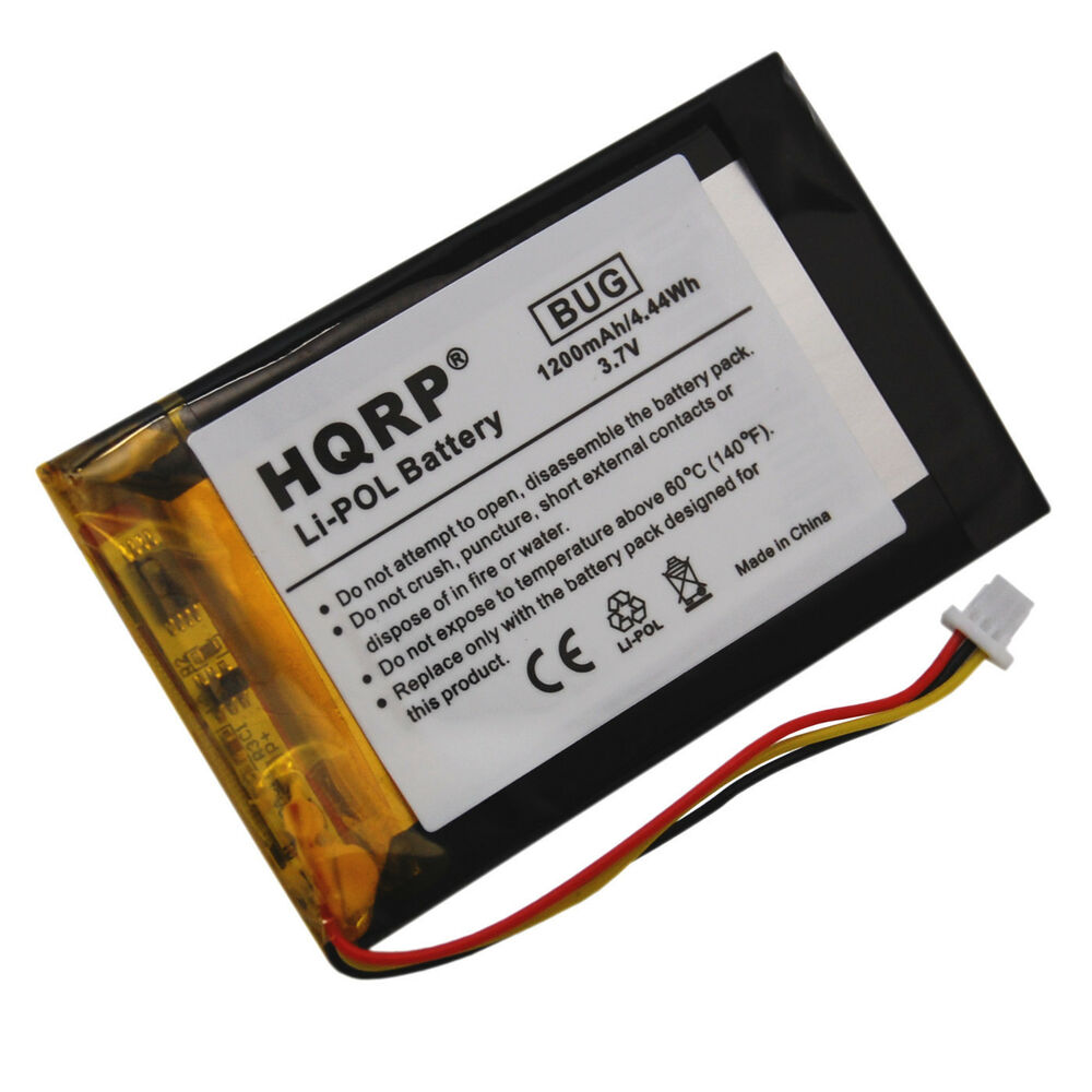 hqrp 1200mah battery for garmin nuvi 1390 1390t 1690 1690t. Black Bedroom Furniture Sets. Home Design Ideas