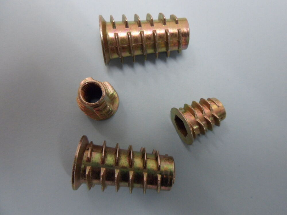 Mdf Screw Inserts ~ No m mm threaded quot timber inserts type d zinc