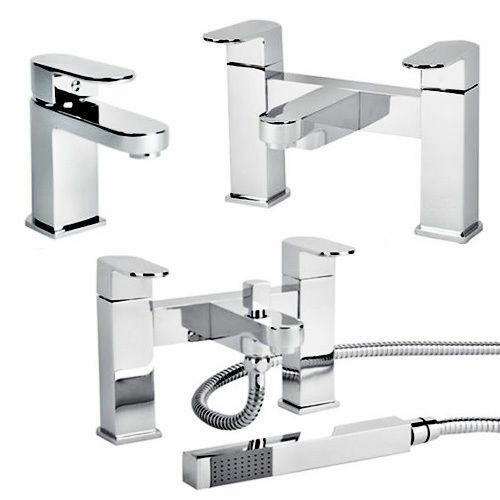 Chrome Bathroom Taps Lever Set Basin Mono Sink Bath Filler ...