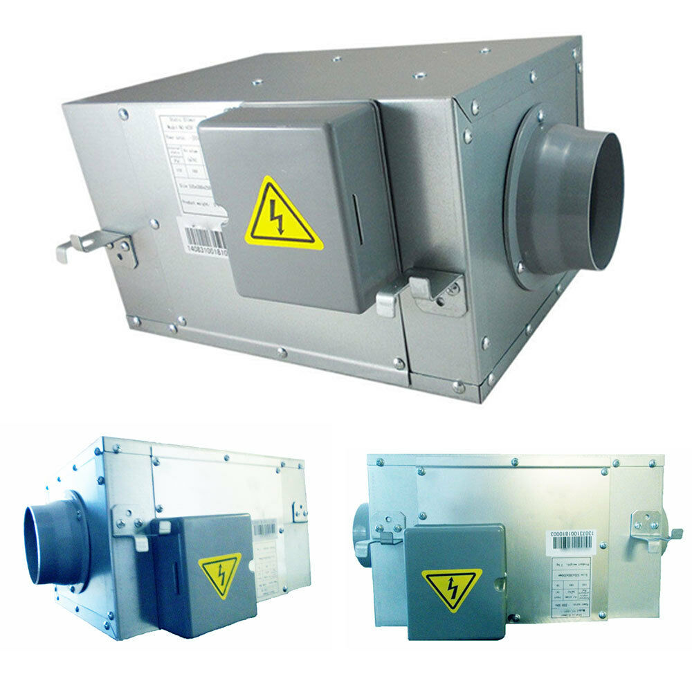 6 Duct Fan Extractor : Acoustic in line duct mounted ventilation low noise