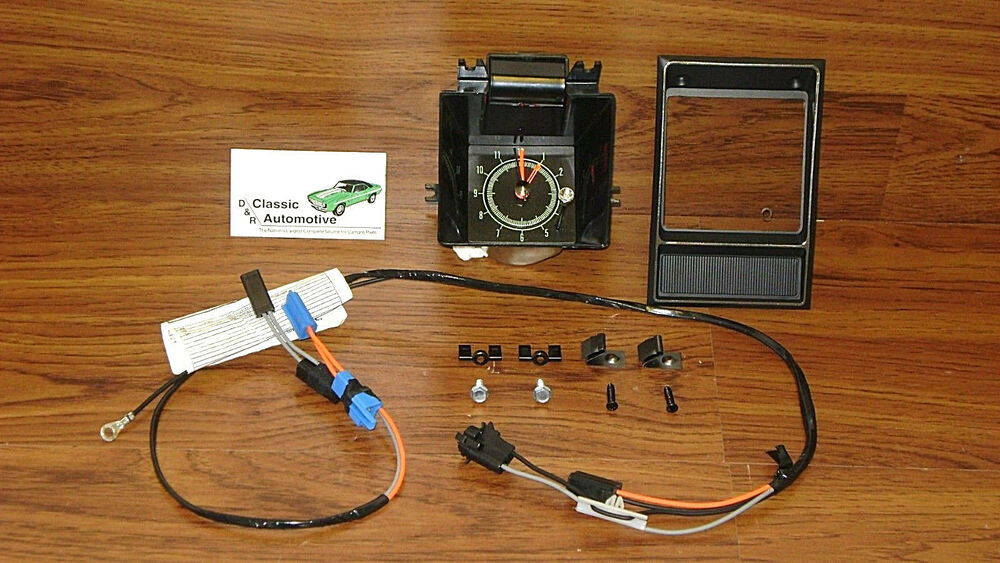 Dash Quartz Clock 12pc Kit 69 Camaro W  Center Bezel Wiring Clips  Gm Resto Part