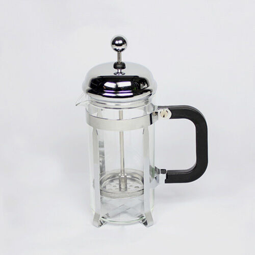 600ml stainless glass tea cup french press coffee maker plunger filter spoon 625678993197 ebay. Black Bedroom Furniture Sets. Home Design Ideas