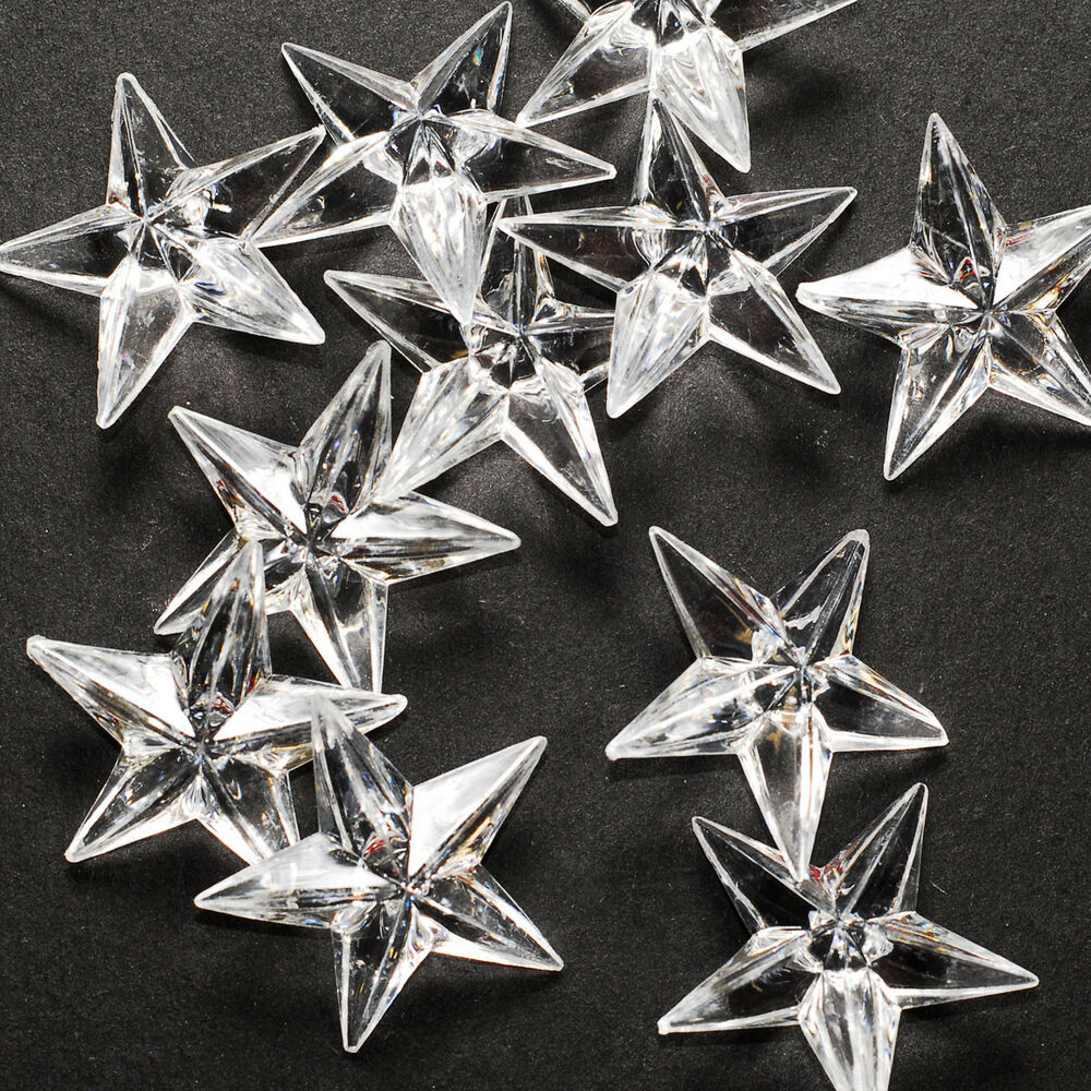12 clear acrylic stars table scatter confetti filler for Acrylic decoration