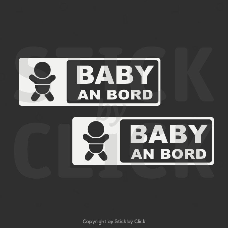 2 x baby an bord auto aufkleber on board tuning sticker decal jdm dub shocker ebay. Black Bedroom Furniture Sets. Home Design Ideas