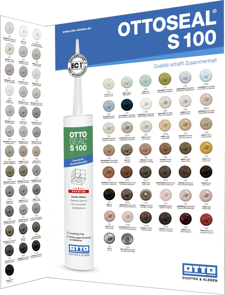 ottoseal s 100 silikon premium sanit r silicon 300 ml kartusche farben g r ebay. Black Bedroom Furniture Sets. Home Design Ideas