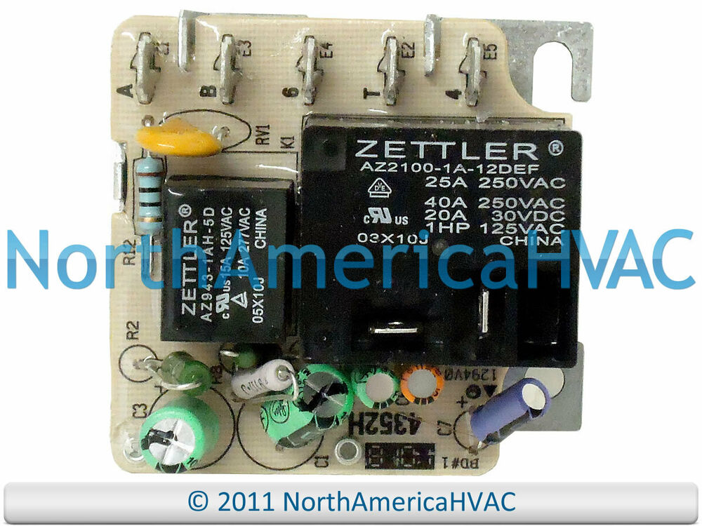 Trane Furnace Blower Motor Relay Fan Zettler Rly2533