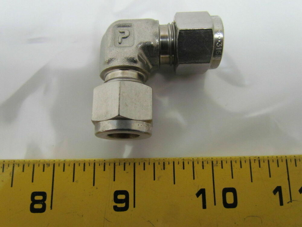 Parker ee quot degree elbow tube fitting