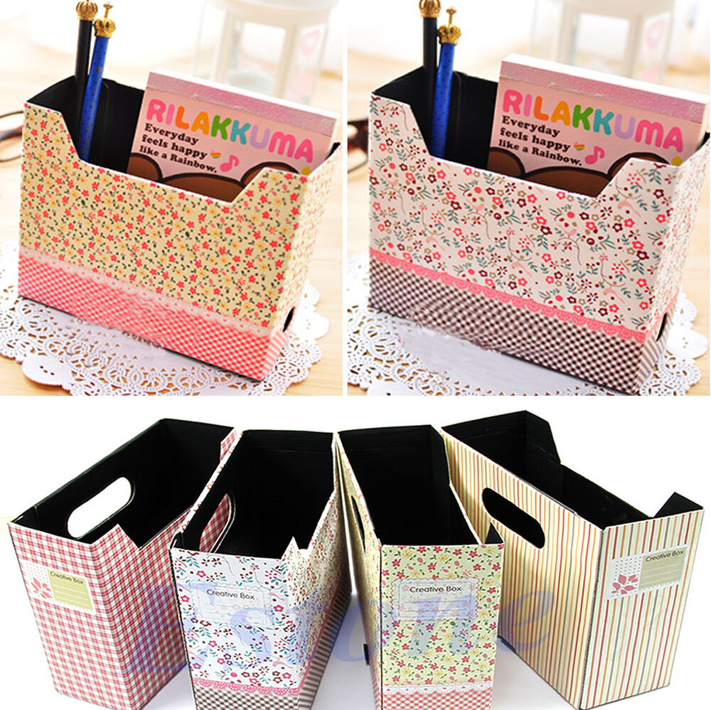 Diy Cute Makeup Cosmetic Stationery Paper Board Storage