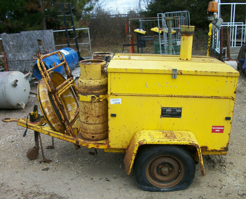 Propane Powered Blower : Hesco mobile power unit watt kohler generator hot