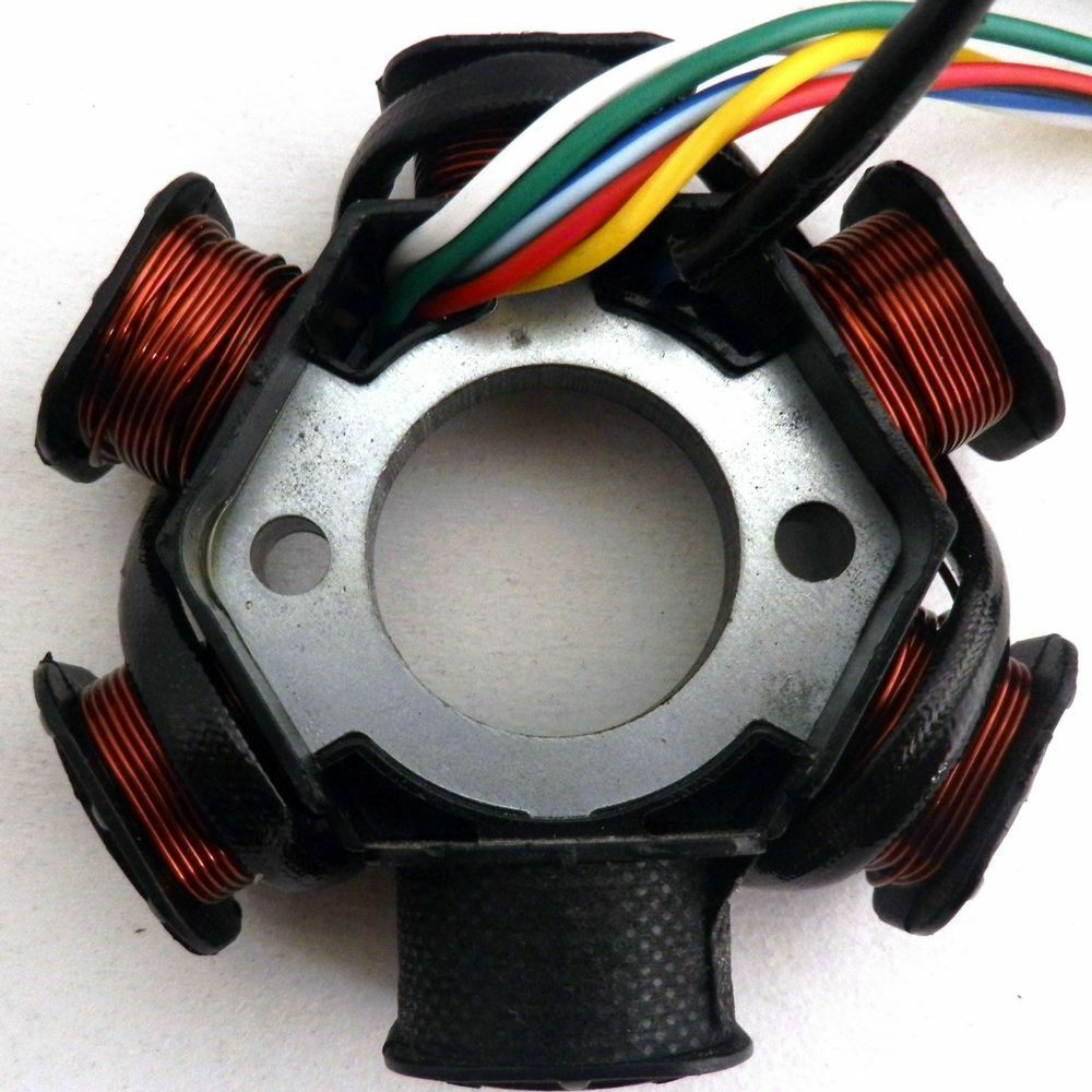 magneto stator 6 coil 5 wire for gy6 125 scooter taotao. Black Bedroom Furniture Sets. Home Design Ideas
