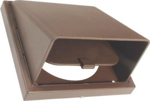 Cowled wall vent grill 4 5 6 brown white non return for I s bains cowling