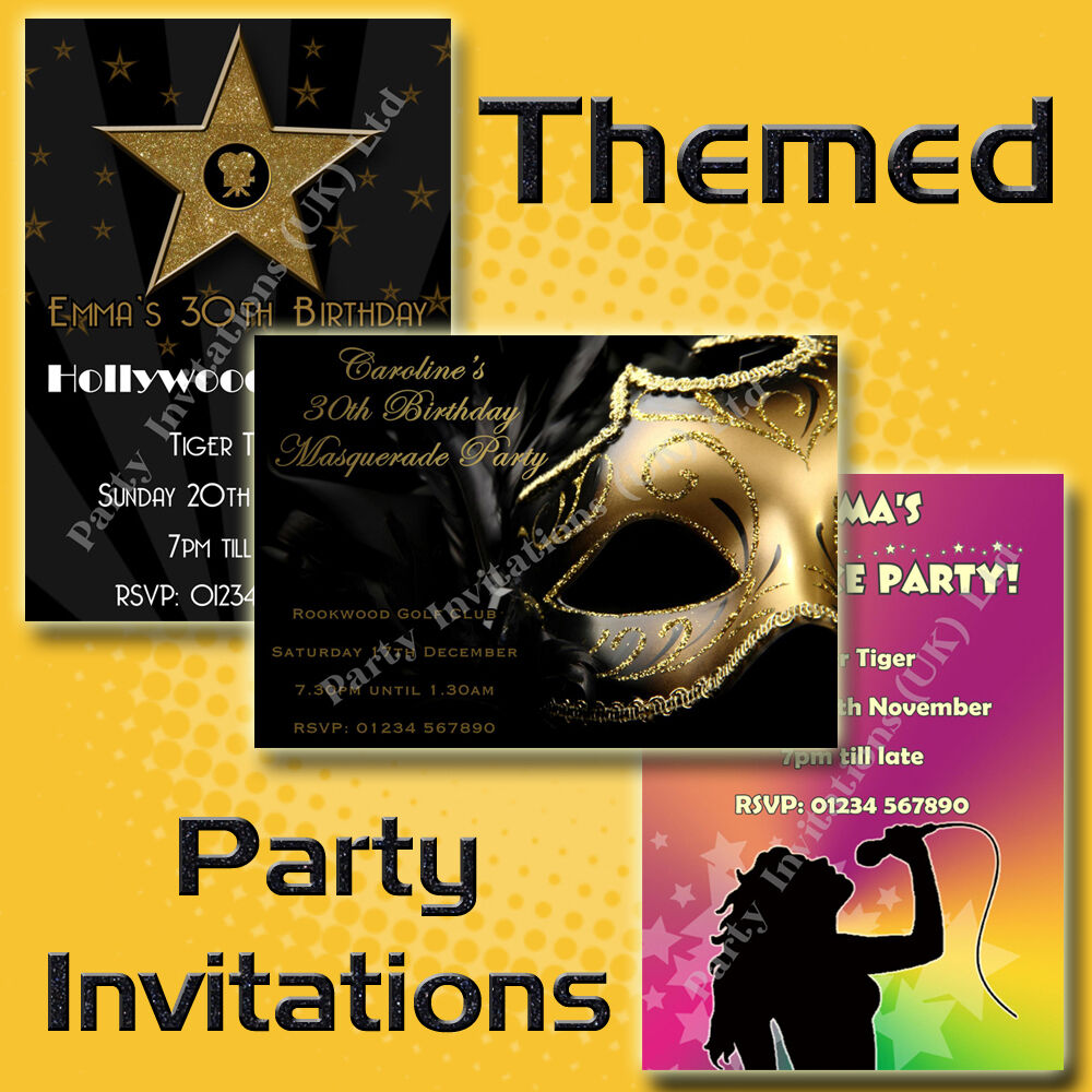 Personalised THEMED Birthday/Hen Party Invitations 18th
