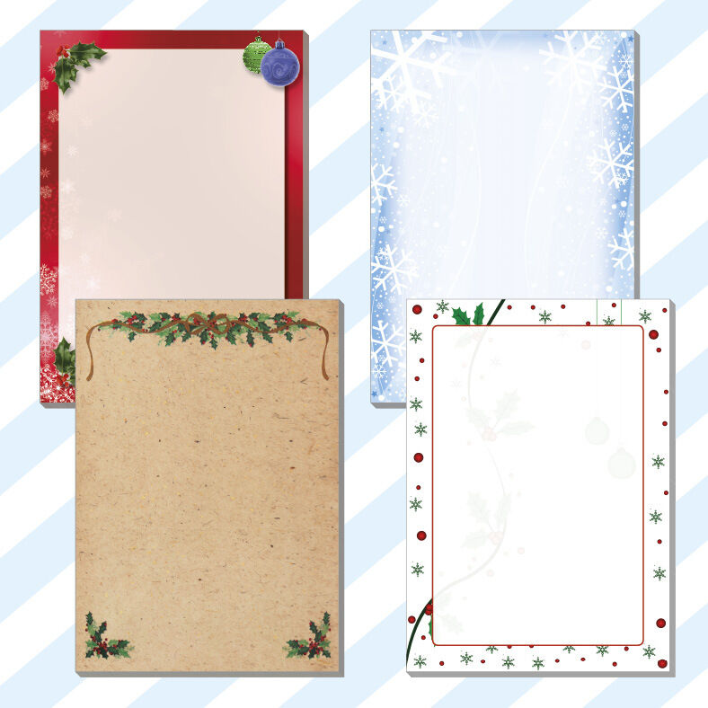 25x a5 christmas dinner lunch menus borders blanks notes