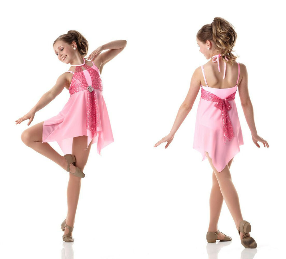 Pretty Pink Lyrical Ballet Dress Dance Costume Marked Down ...