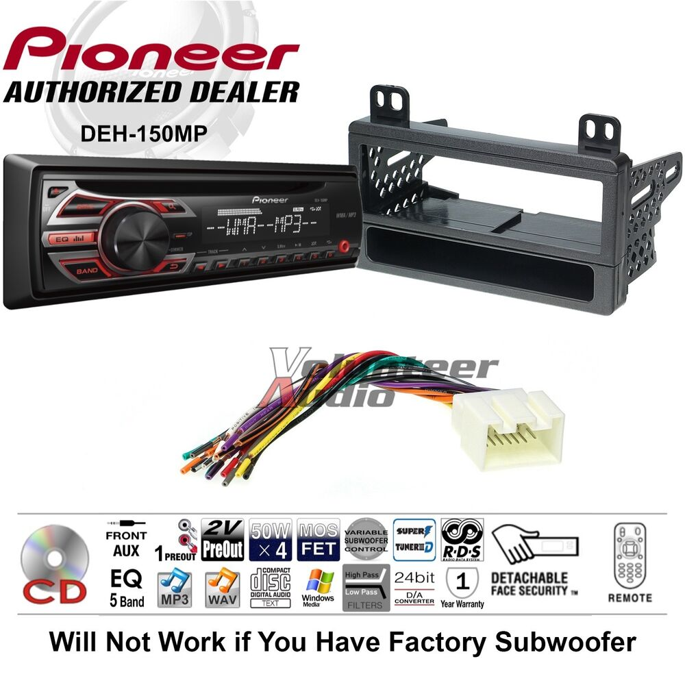 Pioneer Cd Car Stereo Radio Kit Dash Installation Mounting With Wiring Harness