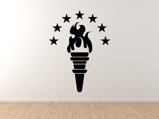 Torch With Star Arch Night Flame Symbol Liberty