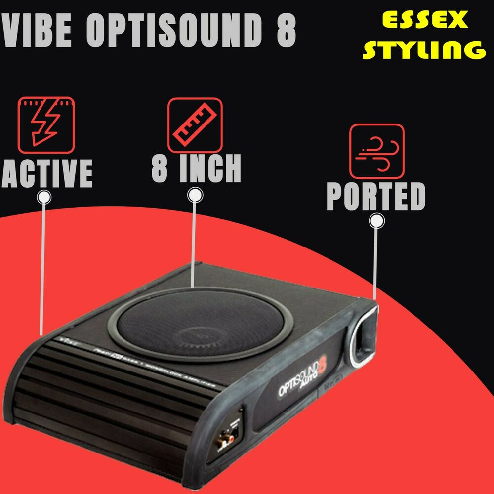 vibe liteair optisound auto 8 amplified car subwoofer. Black Bedroom Furniture Sets. Home Design Ideas