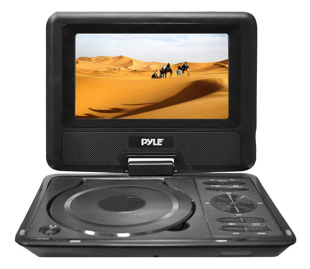 new pyle 9 widescreen portable monitor w built in dvd mp3 mp4 players usbsd 68889019230 ebay. Black Bedroom Furniture Sets. Home Design Ideas
