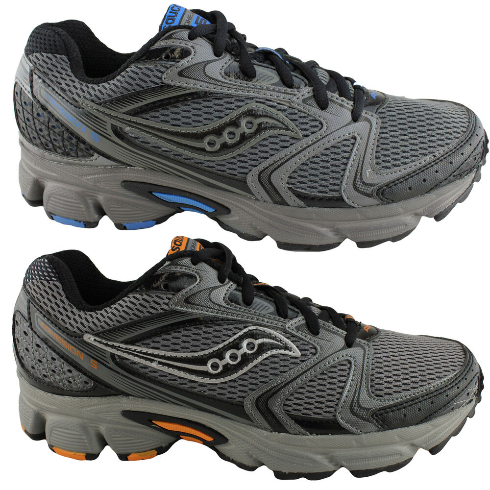 Product Description range of running and walking shoes, each with the Saucony trademark.