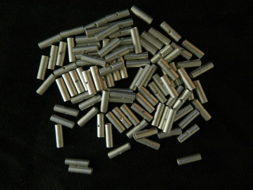 14 16 gauge 100 pk uninsulated non insulated butt connector crimp terminal wire ebay. Black Bedroom Furniture Sets. Home Design Ideas
