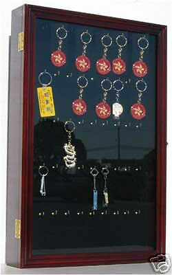 keychain display case wall cabinet with glass door solid