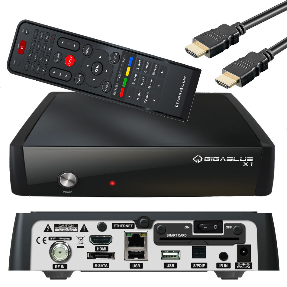 gigablue x1 sat receiver hd linux full hdtv receiver usb. Black Bedroom Furniture Sets. Home Design Ideas