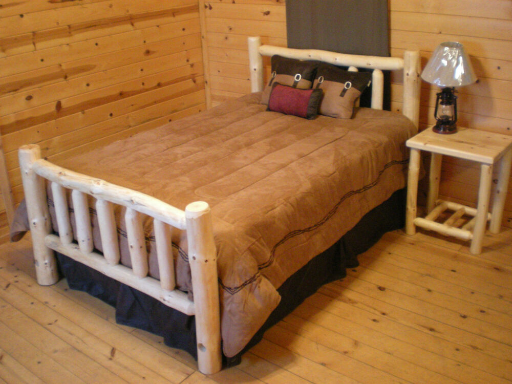 Log bed special log cabin rustic log bed log furniture for your home or cabin ebay Home furniture and mattress
