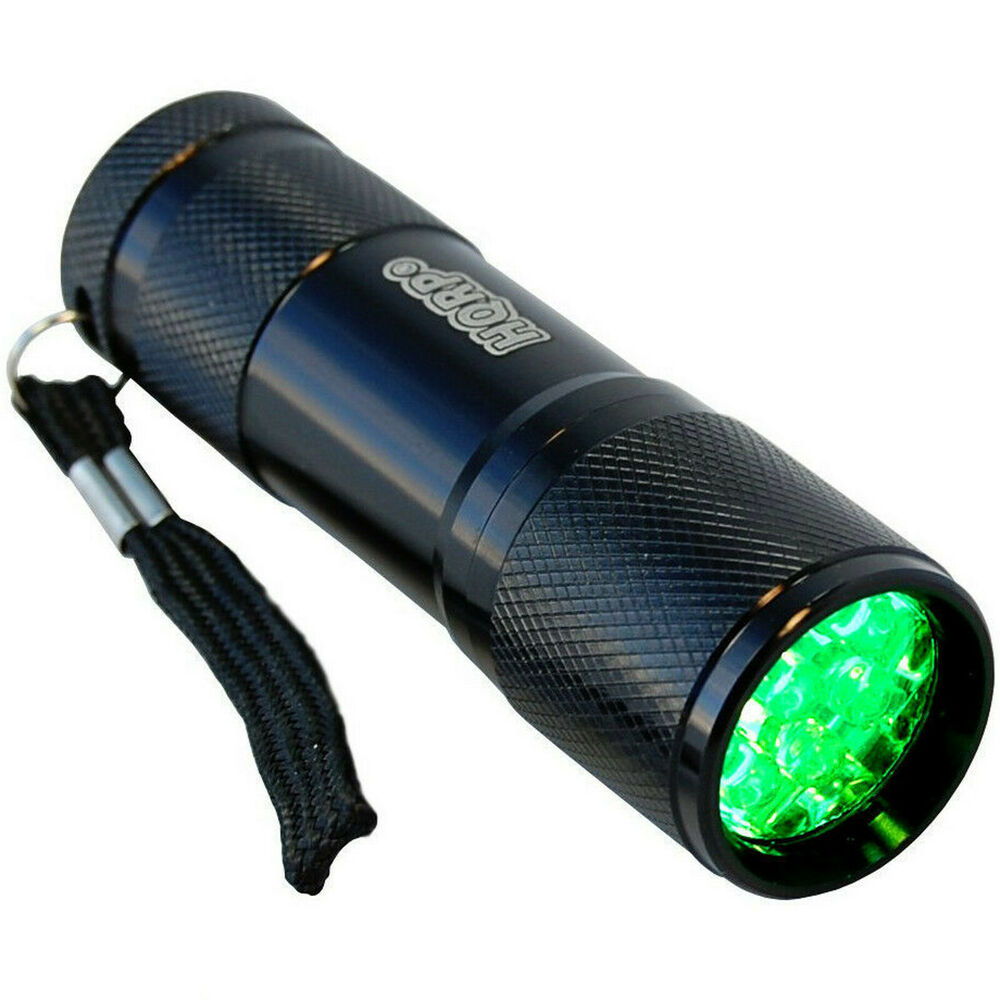 HQRP Green 9-LED's Flashlight Torch Light Pressure Switch ...