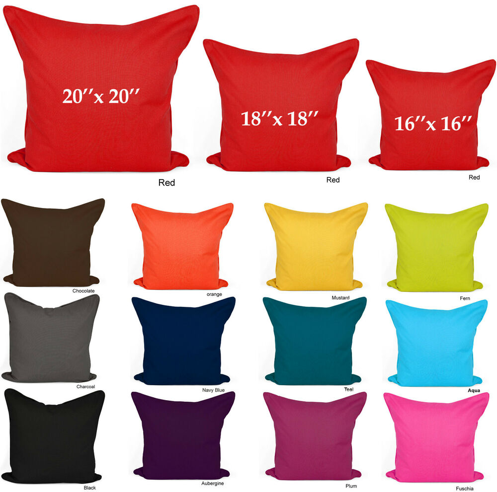 Throw Pillow Case 20 X 20 : Plain Cushion Covers 100% Cotton Decorative Pillow Cases 16x16 18x18 20x20 Size eBay