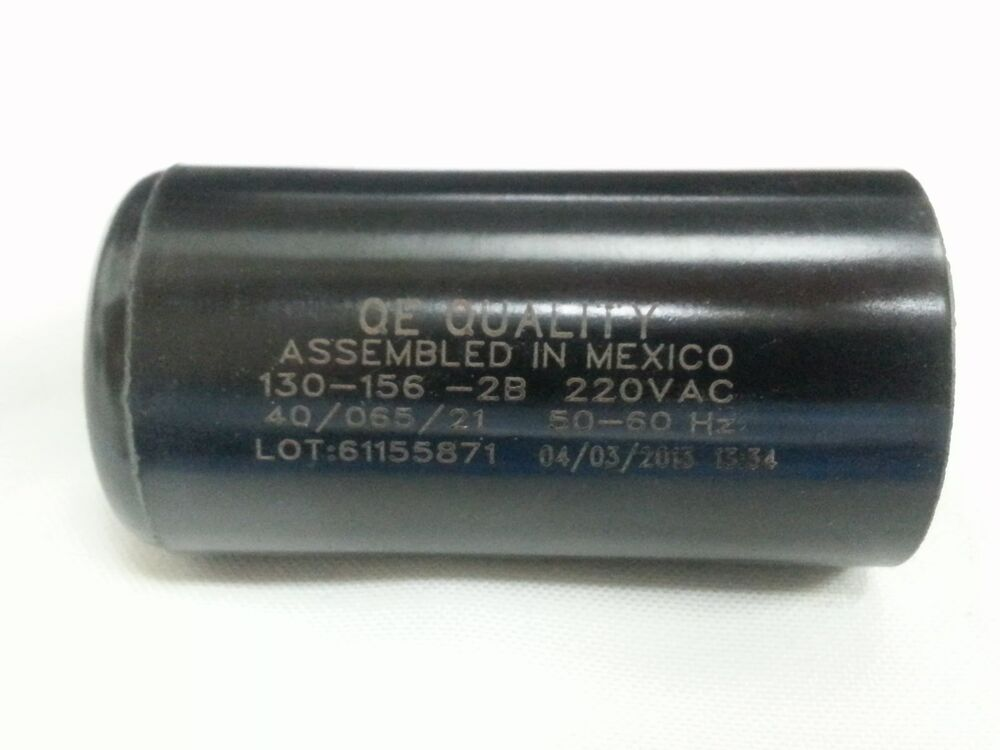 Motor start capacitor 130 156 mfd uf 220 250vac hvac cap for How to test a motor start capacitor